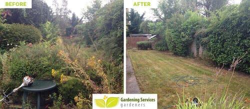 front garden landscaping Bounds Green