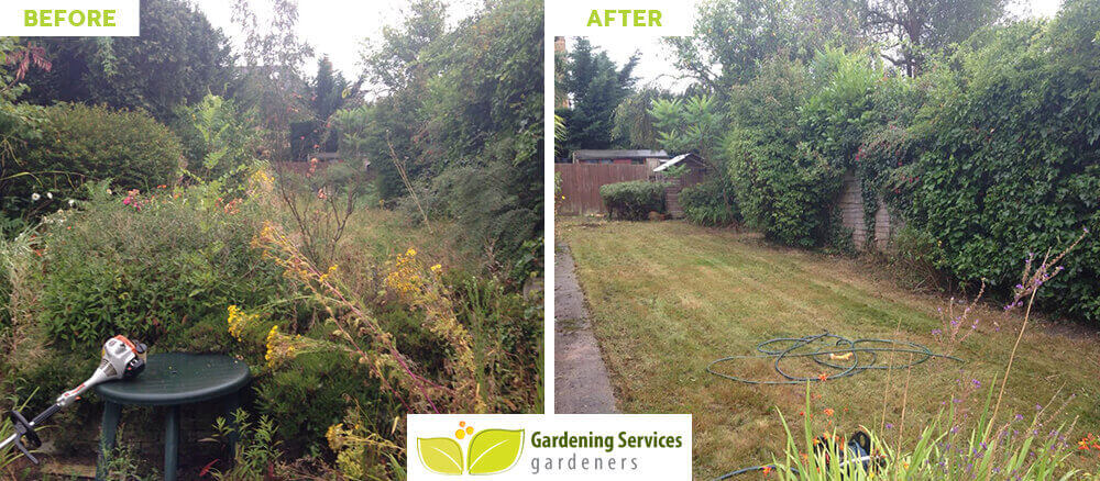 front garden landscaping Colliers Wood