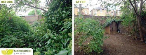 N4 garden edging Stroud Green