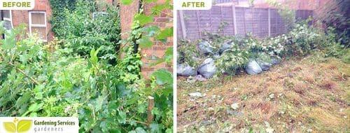 Upminster garden clean up RM14