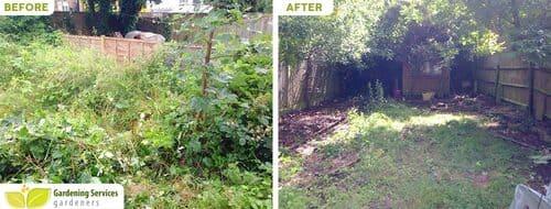 Plumstead garden clean up SE18