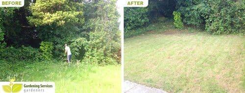 SW13 garden edging Castelnau